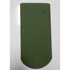 Bobrovka 19 x 40 kulatý řez - zelená engoba světlá
