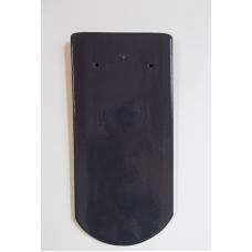 Bobrovka 19 x 40 kulatý řez - modrofialová glazura