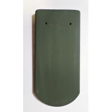 Bobrovka 19 x 40 kulatý řez - zelená engoba tmavá